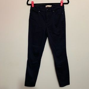 Tory Burch Navy Blue Slim Fit Straight Leg Jeans